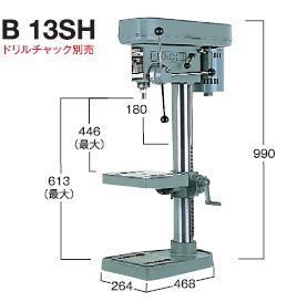 HiKOKI/ハイコーキ(日立電動工具) 卓上ボール盤(ドリルチャックは別売) B13SH【200V】【※メーカー直送品のため代金引換便はご利用になれません】