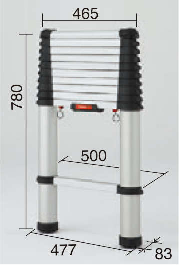 ハセガワ 伸縮はしご テレスコピックラダー HPS-33BD【全長3.3m】