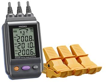 日置電機 電圧計付検相器(金属非接触方式) PD3259