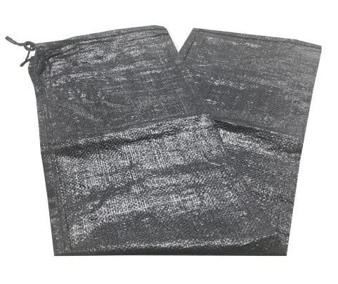 SC UVブラック 枕土のう袋 UV剤入り 3年耐候型 保証 黒土嚢袋 200枚入 口紐付き PE10×10 ※400枚ごとに送料800円かかります 大人気! 250×900mm