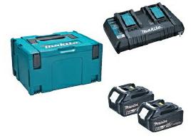 マキタ電動工具 パワーソースキットSH1(マックパックタイプ3+BL1860B×2個+2口充電器DC18SH) A-68317