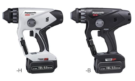 パナソニック電動工具 【Dual】充電式マルチハンマードリル【18V/5.0Ah電池2個セット】 EZ78A1LJ2G-B(黒)/EZ78A1LJ2G-H(グレー)