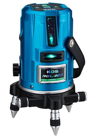 KDS グリーンレーザー墨出し器 KDS 高輝度リアルグリーンレーザー墨出し器 RGL-400(本体のみ)【受光器・三脚は別売】