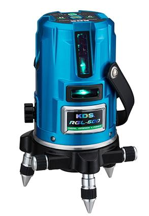 KDS グリーンレーザー墨出し器 KDS 高輝度リアルグリーンレーザー墨出し器 RGL-600(本体のみ)【受光器・三脚は別売】