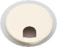 スガツネ LAMP 配線孔キャップ丸型 D寸法76.5mm S76W(ホワイト) 210-031-815【1箱/15個】