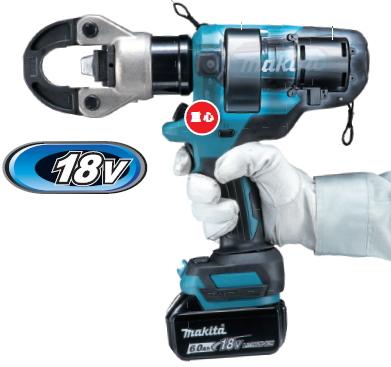 マキタ電動工具 18V充電式圧着器 TC300DRG【BL1860B×1個・充電器・ケース付】