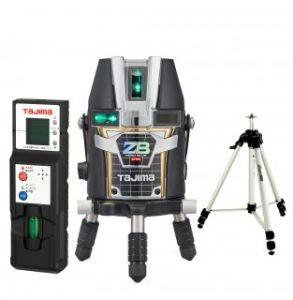 タジマツール ブルーグリーンレーザー墨出し器 ZERO BLUEリチウム-KY ZEROBL-KYSET(本体+受光器+三脚)
