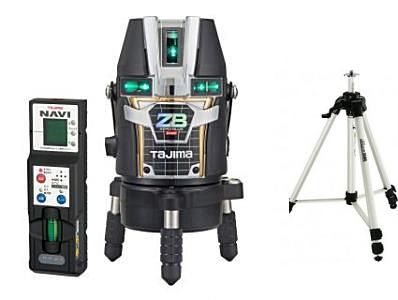 タジマツール ブルーグリーンレーザー墨出し器 NAVI ZERO BLUEリチウム-KJC ZEROBLN-KJCSET(本体+NAVI受光器+三脚)