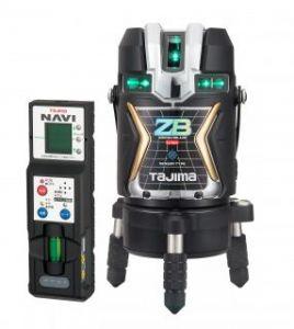 タジマツール ブルーグリーンレーザー墨出し器 NAVI ZERO BLUEセンサーリチウム-KJC ZEROBLSN-KJC(本体+NAVI受光器)【三脚は別売】
