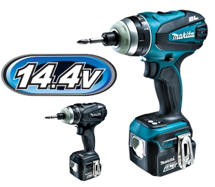 マキタ インパクトドライバー 14.4V充電式4モードインパクトドライバー TP131DRGX(青)/TP131DRGXB(黒)【BL1460B×2個・充電器・ケース付】