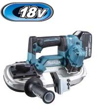 マキタ電動工具 18V充電式ポータブルバンドソー PB184DRGX【BL1860B×2個・充電器・ケース(バッテリー・充電器用)付】【最大直角切断能力51mm】