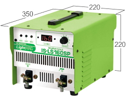 育良精機 【インバーター制御直流アーク溶接機】ライトアーク IS-LS160SP(200V)
