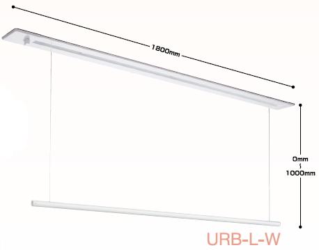 ホスクリーン 川口技研 室内用ホスクリーン昇降式(天井埋込タイプ)【1800mm】 URB-L-W【ホスクリーン ケンチクボーイ】【※大型商品の為日時指定ができません】