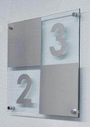 キョーワナスタ 階数表示板 KS-TS-F05F-L(左上り)【受注生産】 ※階数表示ご指定ください