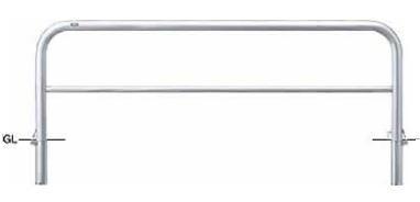 サンポール 車止め アーチ 差込式カギ付 φ60.5×W2000×H650 AH-7SK20-650 【※メーカー直送品のため代金引換便はご利用になれません】 50730