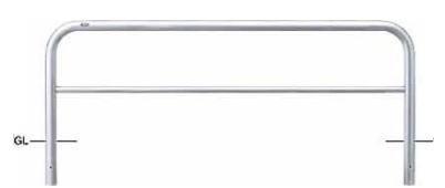 <title>ステンレス製 サンポール 車止め アーチ 固定式 φ60.5×W2000×H650 AH-7U20-650 ※メーカー直送品のため代金引換便はご利用になれません 高い素材 50727</title>