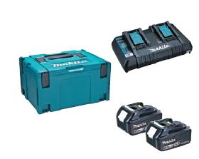 マキタ電動工具 パワーソースキット1(マックパックタイプ3+BL1860B×2個+2口充電器DC18RD) A-61226