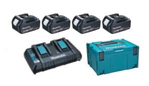 マキタ電動工具 パワーソースキット2(マックパックタイプ3+BL1860B×4個+2口充電器DC18RD) A-67094