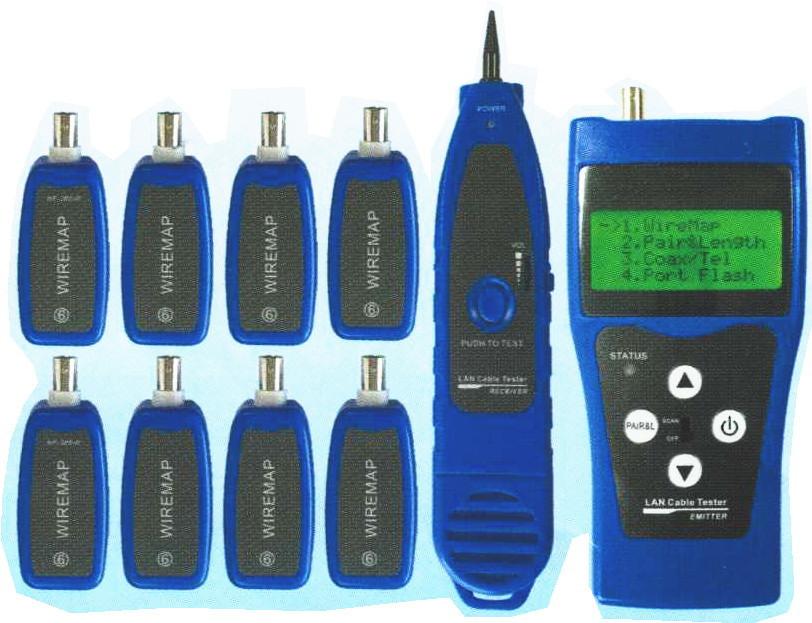 ケーブル測長機能付きLAN・同軸テスター(リモート8個付) GM883