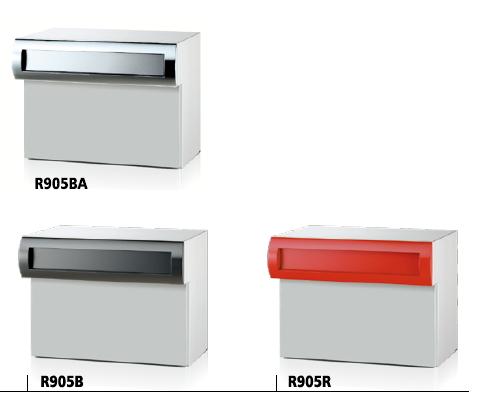 SONIA コーワソニア ボックス一体型口金ポスト R905 静音ラッチ錠 前入後出 ベーシックカラー