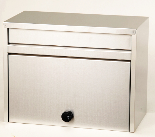 メイワ メール便対応ダイヤル錠付ステンレス大型ポスト MYL-1000 W430×D255×H330