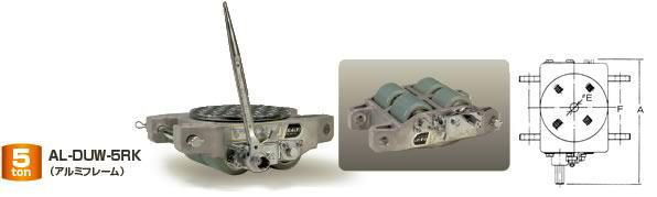 ダイキ スピードローラー クリーンルーム対応タイプ AL-DUW-5RK 自走型アルミフレーム 能力5t