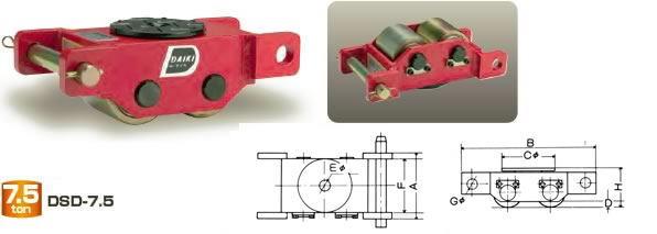 ダイキ スピードローラー 標準タイプ DSD-7.5 直列型 能力7.5t【※メーカー直送品のため代引はご利用できません】