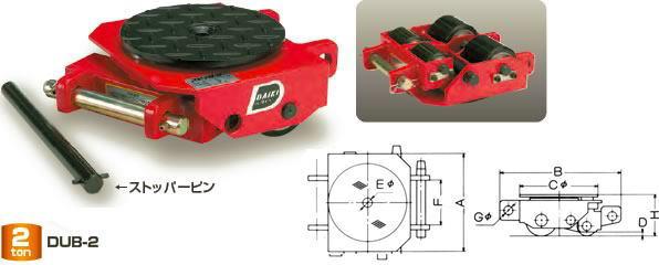 ダイキ スピードローラー 標準タイプ DUB-2 ボギー型 能力2t