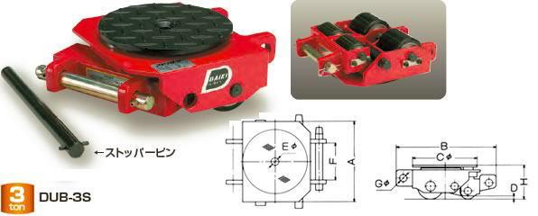 ダイキ スピードローラー 低床タイプ DUB-5S ボギー型 能力5t【※メーカー直送品のため代引はご利用できません】