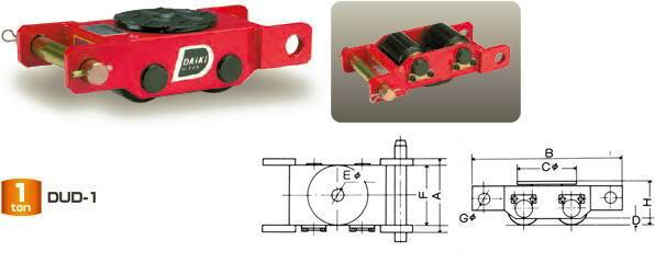 ダイキ スピードローラー 標準タイプ DUD-1.5 直列型 能力1.5t【※メーカー直送品のため代引はご利用できません】