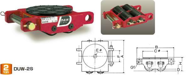 ダイキ スピードローラー 低床タイプ DUW-2S ダブル型 能力2t