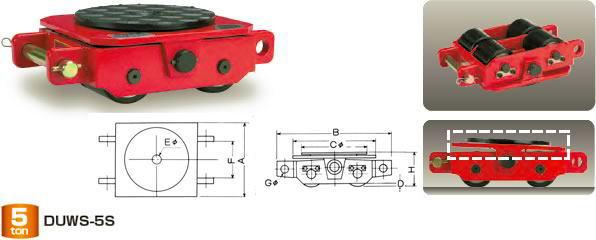 ダイキ スピードローラー 低床タイプ DUWS-10S スペシャル型 能力10t【※メーカー直送品のため代引はご利用できません】