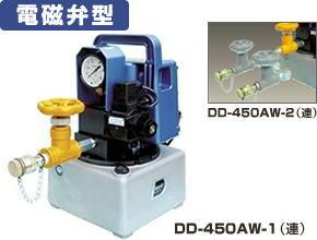 ダイキ 小型電動油圧ポンプ 【DD-450AW-2】 2連 AC100V(50Hz/60Hz) 電磁弁型【※メーカー直送品のため代引はご利用できません】