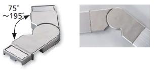 日本化学産業 アプローチステンレス手摺 笠木コーナージョイントセット SFT-CJ【※メーカー直送品のため代引不可となります/現場部材一括納品の場合送料無料/追加部材の場合は別途送料1000(税抜)かかります】