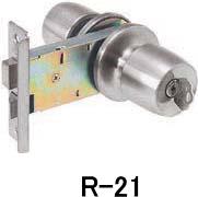 アルミサッシ取替錠 勝手口(キー3本付) R-21 バックセット100mm