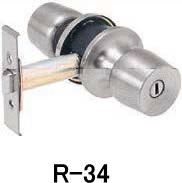 トステム アルミサッシ取替錠 浴室・トイレ(非常開錠付) R-34 バックセット90mm