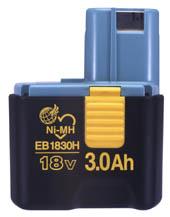 HiKOKI/ハイコーキ(日立電動工具) バッテリー 18Vニッケル水素電池 EB1830H