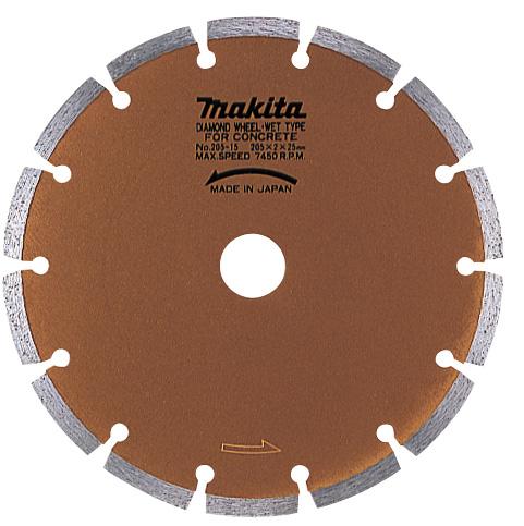 マキタ電動工具 ダイヤモンドホイール 湿式(セグメントタイプ)205mm A-20448
