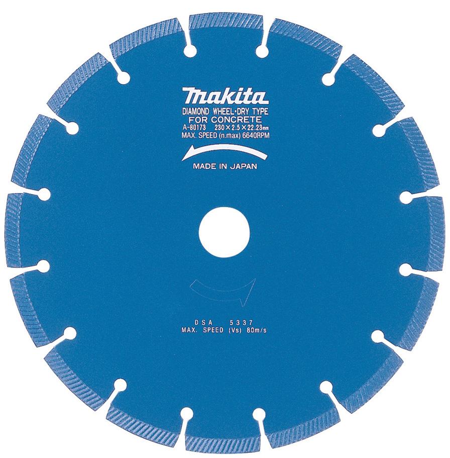 マキタ電動工具 ダイヤモンドホイール セグメント 4109S用230mm A-31170