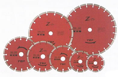TOP(トップ工業) ダイヤモンドホイール セグメントタイプ205mm TDS-205