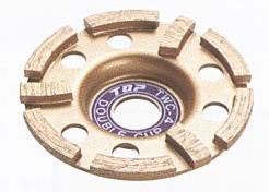 TOP(トップ工業) カップ型ダイヤモンドホイール ダブルカップ100mm TWC-4