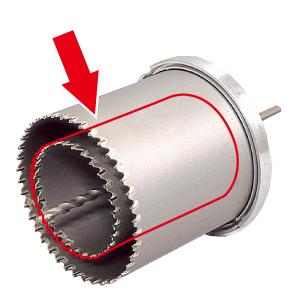 DENSAN(デンサン/ジェフコム) ファンダクトコア(ALC・サイディング兼用) 替刃φ115mm FB-115K