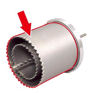DENSAN(デンサン/ジェフコム) ファンダクトコア(ALC・サイディング兼用) 替刃φ160mm FB-160K