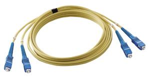JEFCOM(ランエフシーネットワーク機材) オプティカルファイバーパッチケーブル シングルモード 10m LFV-SCSM-10