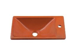 KAKUDAI カクダイ 瑠珠 493-010-R 角型手洗器(鉄赤)