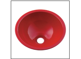 KAKUDAI カクダイ 鉄穴(かんな) 493-026-R 丸型手洗器(レッド)