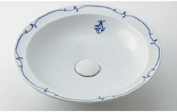 KAKUDAI カクダイ 奏 493-055-W 丸型洗面器(シルク)