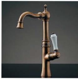 KAKUDAI カクダイ ANTIRA 700-739-13 立水栓(トール・オールドブラス) <90度開閉ハンドル>
