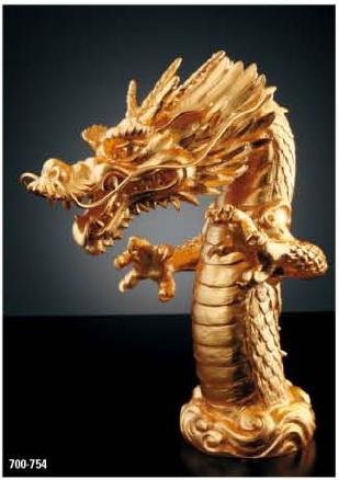 KAKUDAI カクダイ 祥竜 700-754 吐水口(龍) 純金箔貼り