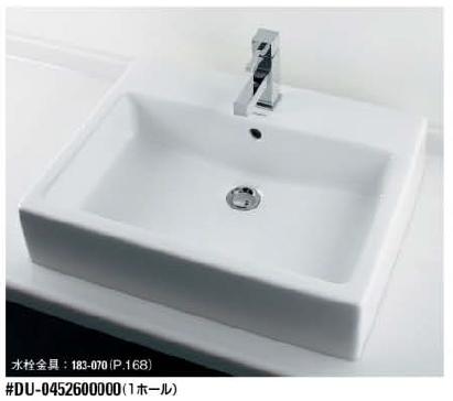 入園入学祝い KAKUDAI カクダイ DURAVIT #DU-0452600000 角型洗面器(1ホール):ケンチクボーイ-木材・建築資材・設備